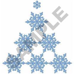 SNOWFLAKE CHRISTMAS TREE embroidery design