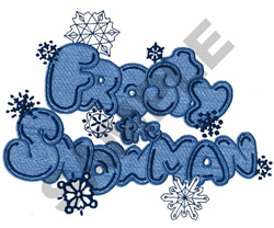 FROSTY THE SNOWMAN embroidery design