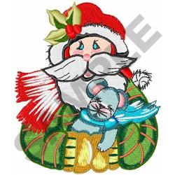SANTA WITH MOUSE embroidery design