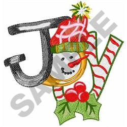 JOY SNOWMAN embroidery design