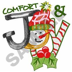 COMFORT AND JOY embroidery design