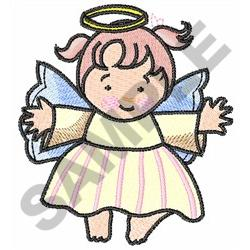 HAPPY GIRL ANGEL embroidery design