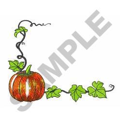 PUMPKIN CORNER embroidery design