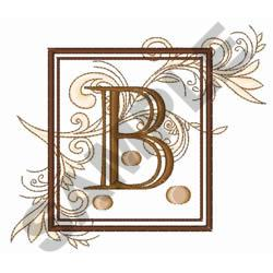 FANCY SQUARE LETTER B embroidery design
