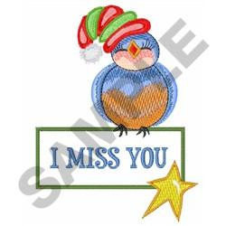 I MISS YOU GIFT TAG embroidery design