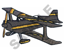 WEEKS BIPLANE embroidery design
