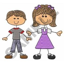 BIG SISTER LITTLE BROTHER embroidery design