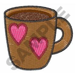 SMALL COFFEE CUP embroidery design