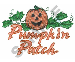 PUMPKIN PATCH embroidery design