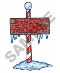 SANTAS WORKSHOP embroidery design