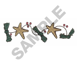 STARS WITH RIBBONS embroidery design