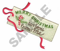 TO YOU FROM ME embroidery design