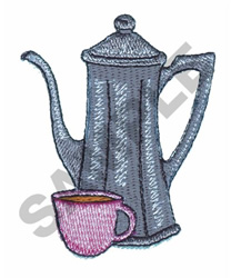 TEAPOT AND CUP embroidery design