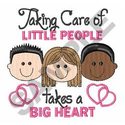 TAKING CARE OF LITTLE PEOPLE embroidery design