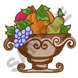 ELEGANT HARVEST BOWL embroidery design