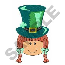 ST PATRICKS DAY GIRL embroidery design