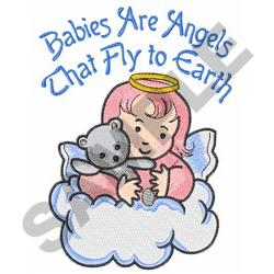 BABIES ARE ANGELS embroidery design