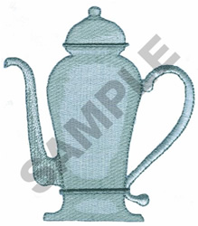 COFFEE URN embroidery design