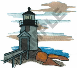 LIGHTHOUSE #6 embroidery design