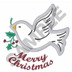 CHRISTMAS DOVE  APPLIQUE embroidery design