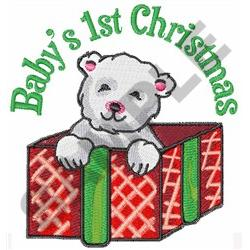 BABYS FIRST CHRISTMAS embroidery design