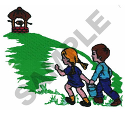 JACK AND JILL WENT UP THE HILL embroidery design