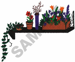 PLANT LEDGE POCKET TOPPER embroidery design