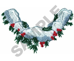 HOLLY WITH SNOW embroidery design