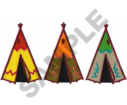 TEEPEES embroidery design