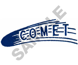 COMET embroidery design