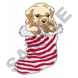 Stocking Puppy embroidery design