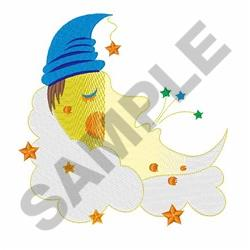 Sleeping Moon embroidery design