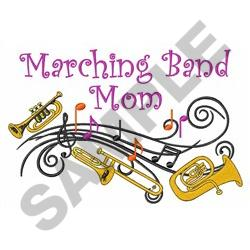MARCHING BAND MOM embroidery design