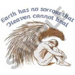 EARTH HAS NO SORROW embroidery design
