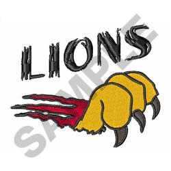 LIONS CLAW TEAR embroidery design