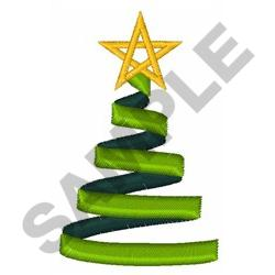 RIBBON CHRISTMAS TREE embroidery design