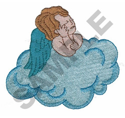 BOY ANGEL DAYDREAMING embroidery design