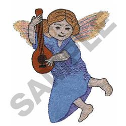 ANGEL PLAYING MANDOLIN embroidery design