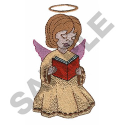 ANGEL READING embroidery design