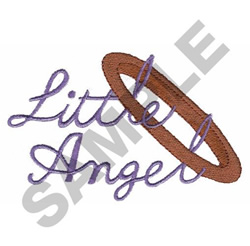 LITTLE ANGEL HALO embroidery design