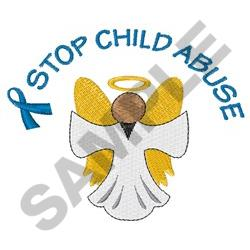 STOP CHILD ABUSE embroidery design