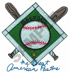 THE GREAT AMERICAN PASTIME embroidery design