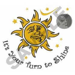 YOUR TURN TO SHINE embroidery design