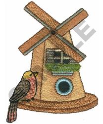 WINDMILL BIRDHOUSE embroidery design