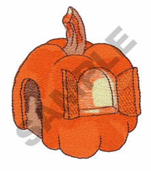 PUMPKIN HOUSE embroidery design