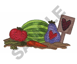 FRUITS AND VEGETABLES embroidery design