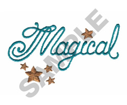 MAGICAL embroidery design