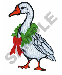CHRISTMAS GOOSE embroidery design