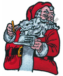 SANTA WITH HIS LIST embroidery design