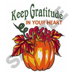 GRATITUDE IN YOUR HEART embroidery design